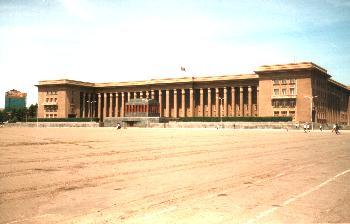 Süh Bator square, mausoleum and parliament