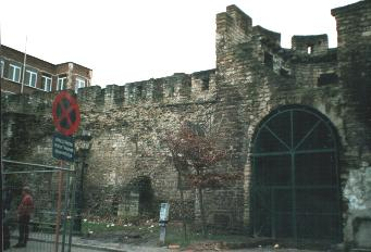 Brussels old city wall