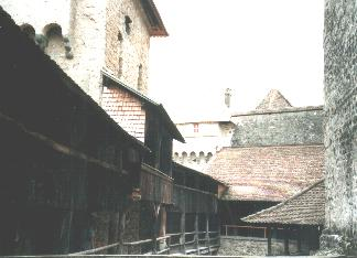 Wooden passways of Chillon