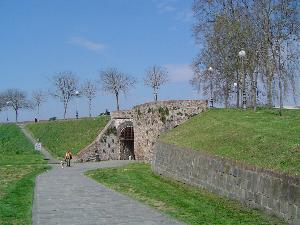 Medieval walls around the city