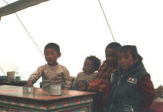 Children in the local restaurant