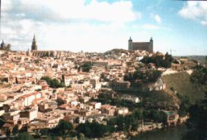 Toledo town with Alcazar