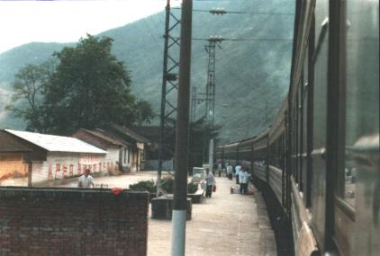 Stop in railway station